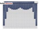 Мультифактурные шторы-жалюзи из пластика и ткани. Модель 01