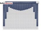 Мультифактурные шторы-жалюзи из пластика и ткани. Модель 02