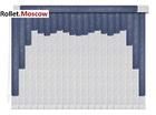 Мультифактурные шторы-жалюзи из пластика и ткани. Модель 03