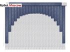 Мультифактурные шторы-жалюзи из пластика и ткани. Модель 04