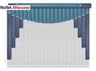 Мультифактурные шторы-жалюзи из пластика и ткани. Модель 05