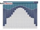 Мультифактурные шторы-жалюзи из пластика и ткани. Модель 06