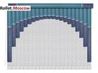 Мультифактурные шторы-жалюзи из пластика и ткани. Модель 08