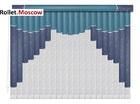 Мультифактурные шторы-жалюзи из пластика и ткани. Модель 10