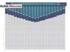 Мультифактурные шторы-жалюзи из пластика и ткани. Модель 12