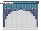 Мультифактурные шторы-жалюзи из пластика и ткани. Модель 13