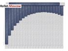 Мультифактурные шторы-жалюзи из пластика и ткани. Модель 14