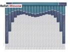 Мультифактурные шторы-жалюзи из пластика и ткани. Модель 15