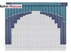 Мультифактурные шторы-жалюзи из пластика и ткани. Модель 16