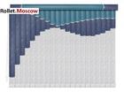 Мультифактурные шторы-жалюзи из пластика и ткани. Модель 19