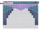 Мультифактурные шторы-жалюзи из пластика и ткани. Модель 21