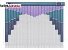 Мультифактурные шторы-жалюзи из пластика и ткани. Модель 22