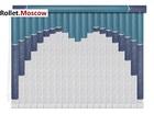 Мультифактурные шторы-жалюзи из пластика и ткани. Модель 23