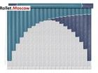 Мультифактурные шторы-жалюзи из пластика и ткани. Модель 24