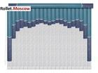 Мультифактурные шторы-жалюзи из пластика и ткани. Модель 26