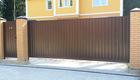 Автоматические откатные ворота на проем 3500мм х 2000мм с дистанционным открытием