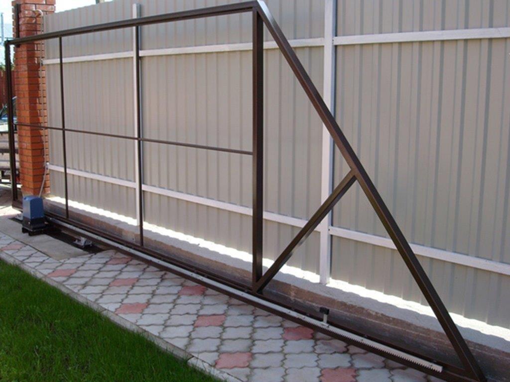 Ворота выдвижные видео откатные ворота ек1000а